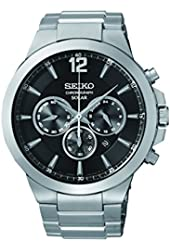 Seiko Men's SSC321 Analog Display Analog Quartz Silver Watch