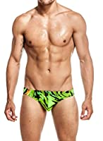 Mens Print Contour Pouch Bikini Swimsuit by Gary Majdell Sport