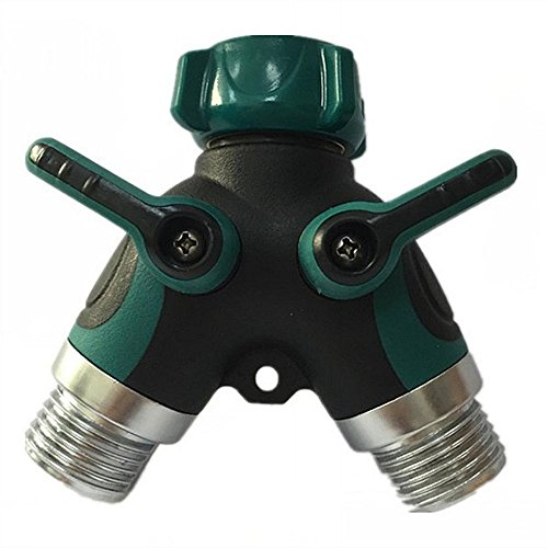 Han Shi® Garden Hose Splitter - Friendly Hose to Hose Connectors Rubber Hose Washers Green (Propane Tank Timer compare prices)
