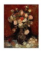 Especial Arte Lienzo Vaas met Chinese asters en tuingladiolen Multicolor