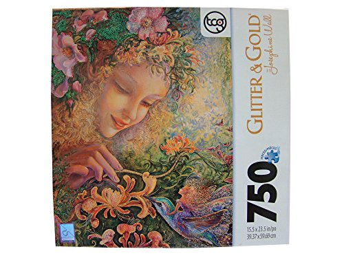 Josephine Wall Glitter & Gold 750 Piece Jigsaw Puzzle: Honeysuckle