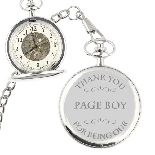 Thank You for being our Page Boy Mechanical Pocket Watch (can be personalised)