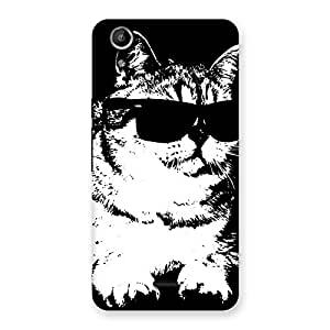 Cute Thug Cat Back Case Cover for Micromax Canvas Selfie Lens Q345