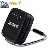 Youmoon Solar-powered Portable Bluetooth Speaker 5W Waterproof IPX4 Silicone case and stainless steel bracket for Outdoors/Shower with 6 Hour Playtime and 20 Hour call duration (Black)