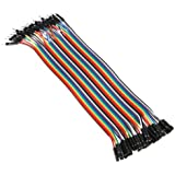 40pcs 20cm Male to Female Dupont line Color Breadboard cable Jumper Wire Jumpercable For Arduino XD