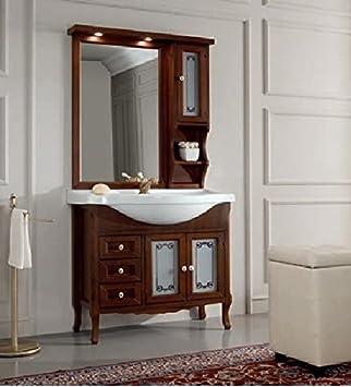 Bains 85classique noyer Elegance Miroir à suspendre