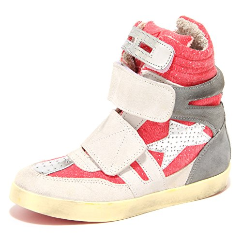 7751N sneaker ISHIKAWA rosso grigio scarpe donna shoes women [38]