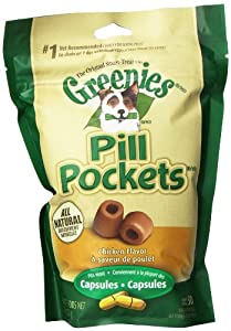 Greenies 6-Pack 7.9-Ounce Dog Treat with Pill Pocket, Large, Chicken