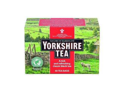 Taylors of Harrogate, Yorkshire Tea, 40-Count Tea Bags (Pack of 6)