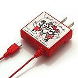 PGA ディズニー110周年 スマートフォン用 microUSB対応 家庭用コンセントAC充電器 LOVE LOVE PG-DNYAC712LOV