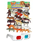 Wild Animals Plastic Toys For Kids ( 20 Pcs. Pack )