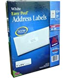"Avery Easy Peel White Address Labels for Laser and Inkjet Printers, 1"" x 2-5/8"", Box of 4200"