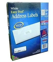 Avery Easy Peel White Address Labels for Laser and Inkjet Printers, 1\
