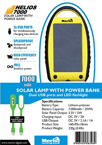 Merlin 7000mAh Solar Power Bank