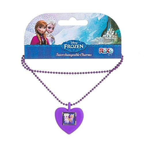 Disney Frozen Anna & Elsa Interchangeable Kid's Charm Necklace
