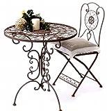 Mobili da giardino tavolo rotondo con 2 sedie in metallo mobili Tecla