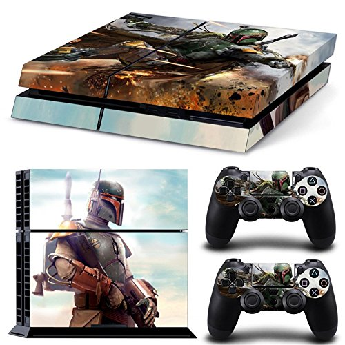 FriendlyTomato-PS4-Console-and-DualShock-4-Controller-Skin-Set-Star-Warrior-PlayStation-4-Vinyl