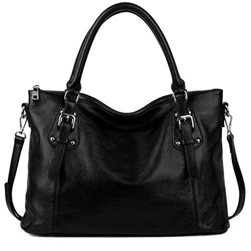 yaluxe-donna-vintage-stile-morbido-vera-pelle-elegante-grande-borse-a-tracolla-nero