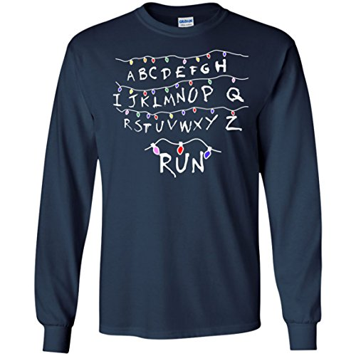 Ugly Stranger Things Light Run Christmas Shirt
