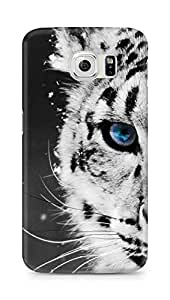 Amez designer printed 3d premium high quality back case cover for Samsung Galaxy S6 (white tiger)