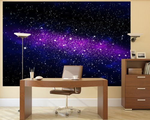 galaxy photo wallpaper space mural starry sky xxl wall decoration nursery classic poster. Black Bedroom Furniture Sets. Home Design Ideas