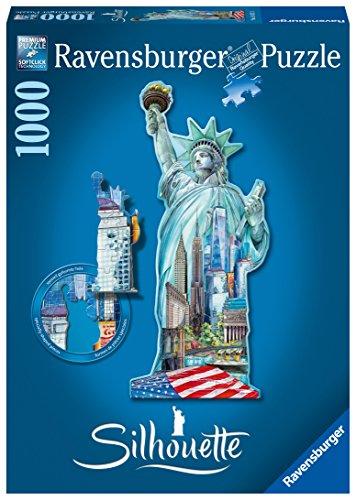 Ravensburger 16151 - Statua della Libertà New York Puzzle, Silhouette