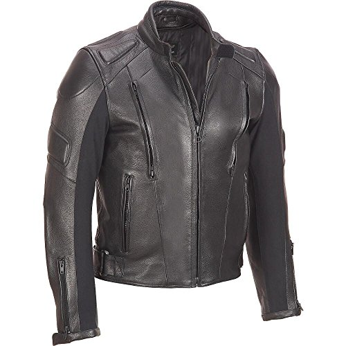 Wilsons Leather Mens Padded Leather Cycle Jacket M Black (Wilson Leather Cleaner compare prices)