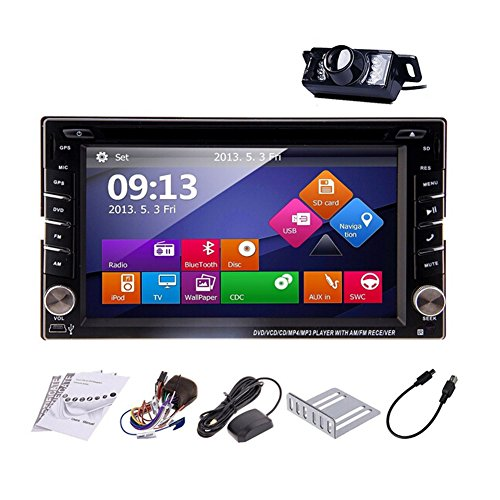 Just Arrival! Upgarde Version With Camera ! Win 8 Car Stereo Radio 2 DIN Car DVD CD Video Player Bluetooth GPS Navigation Car PC 800MHZ CPU !!! (Car Stereos With Gps compare prices)