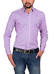 Riwas Collection Men's Formal Shirt (r-110_Pink_XX-Large)