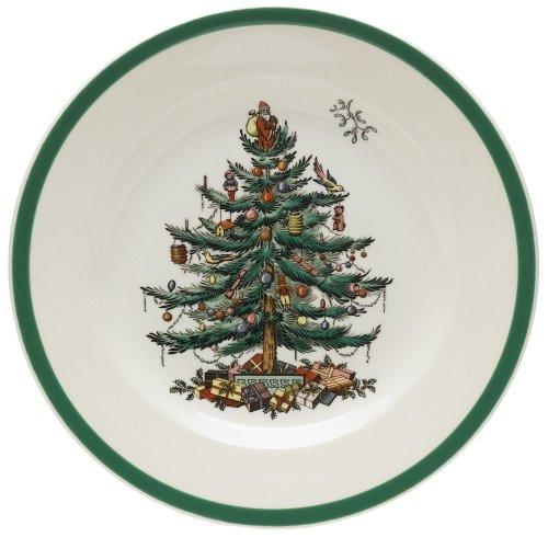 Spode Christmas Tree Salad Plates, Set of 4 Spode China Christmas Tree