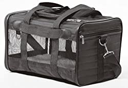 Sherpa 55511 Original Deluxe Pet Carrier Large Black With Black Trim