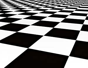 Wallmonkeys WM205104 Black and White Checker Floor Background Pattern Peel and Stick Wall Decals (36 in W x 28 in H)