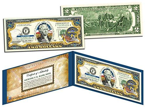 NEBRASKA $2 Statehood NE State Two-Dollar US Bill *Genuine Legal Tender* w/Folio