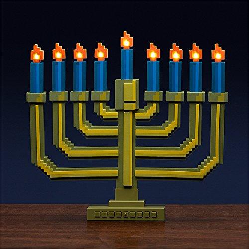 8 bit light up menorah thinkgeek novelty holiday lamp for 8 bit decoration