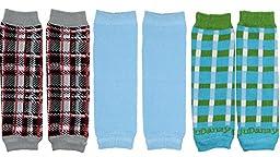 NEWBORN 3 pack of Baby boy or girl leg warmers (Boy Set 2)