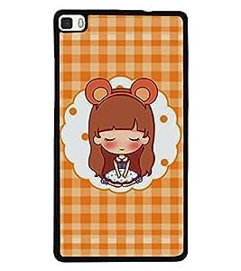 Printvisa 2D Printed Girly Designer back case cover for Huawei P8- D4171