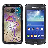 Slim Design Hard PCAluminum Shell Case Cover for Samsung Galaxy Ace 3 GT S7270 GT S7275 GT S7272 Happy Rain Window Painting JUSTGO PHONE PROTECTOR