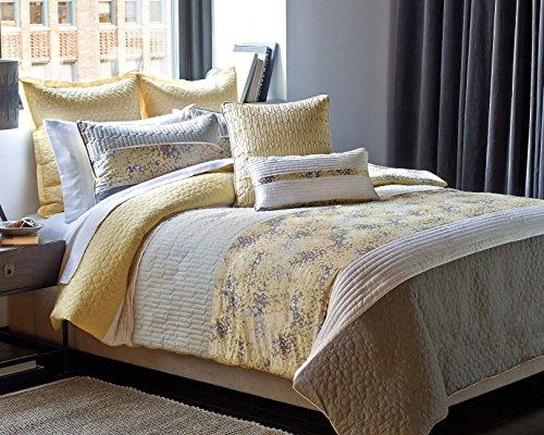Laguna 3-Pc Cream-Yellow Quilted Comforter Set