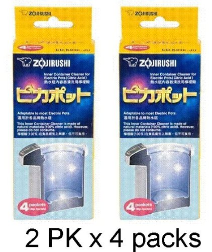 Zojirushi #CD-K03EJU Inner Container Cleaner for Electric Pots, 2 Box, 8 Packets Total