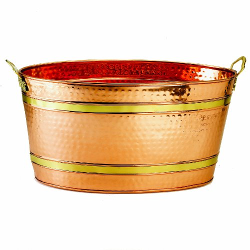 Old Dutch Oval Décor Copper Party Tub, 22-1/2 By 13 By 11-1/2-Inch front-163236