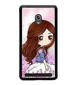Cute Girl 2D Hard Polycarbonate Designer Back Case Cover for Asus Zenfone 5 A501CG :: Asus Zenfone 5 Intel Atom Z2520 :: Asus Zenfone 5 Intel Atom Z2560