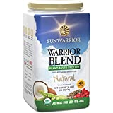 Sunwarrior - Warrior Blend, Raw, Plant-Based Protein, Natural, 40 Servings (2.2 lbs)
