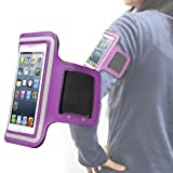 Outstanding Value Slim Fit Purple Correr cubierta de la caja del brazal de Apple Iphone 4s / 4