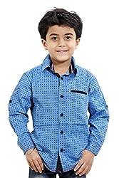 Hushbhi Boy's Shirt (HB0057_Orange_3-4 Y)