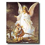Guardian Angel With Children On Bridge Religious Home Decor Wall Picture 16x20 Art Print