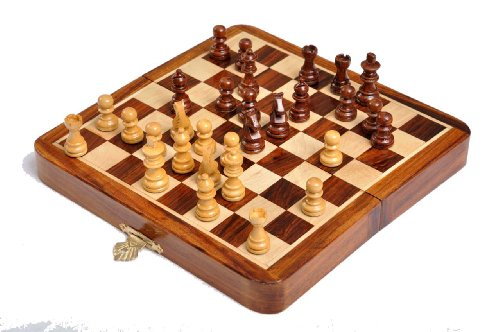the house of staunton folding wooden magnetic travel chess