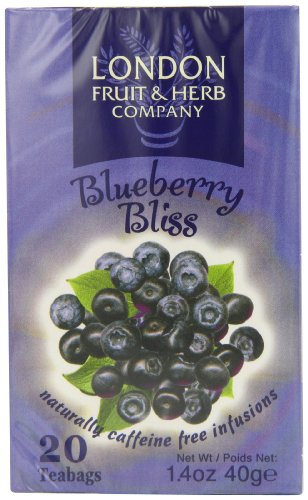 London Fruit and Herb Blueberry Bliss 20 Teabags (Pack of 6, Total 120 Teabags)
