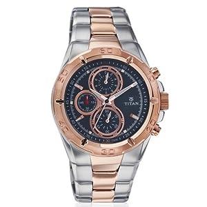 Titan Chronograph Black Dial Men's Watch - Ne9308km02j