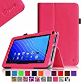 Fintie Double Power M series EM63 7'' Folio Case - Premium PU Leather Stand Cover with Stylus Holder Only Fit 7-inch Double Power DOPO EM63 Tablet - Magenta