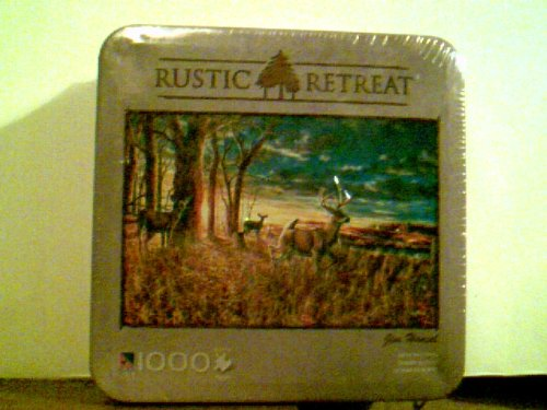 Rustic Retreat - Out for the Evening - Jim Hansel - 1000 Piece Puzzle in Tin 28.75